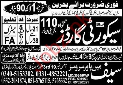 Security Guards Jobs Career Opportunity in Bahrain 2021