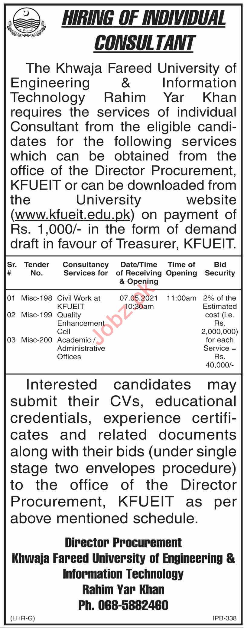 KFUEIT University Engineering & Information Technology Jobs