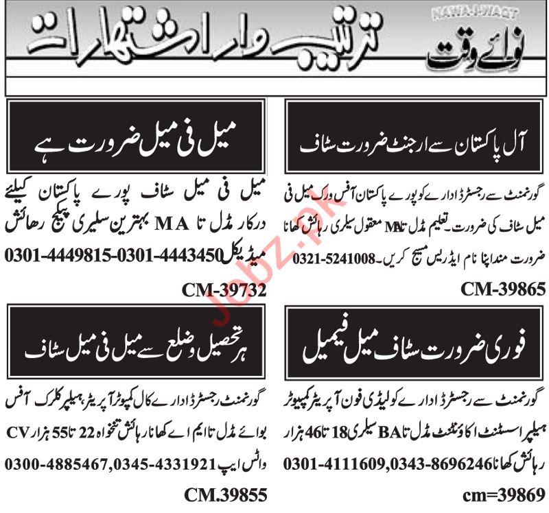 Data Entry Operator & Clerk Jobs 2021 in Islamabad