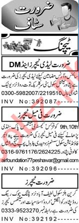 Subject Teacher & Lady Teacher Jobs 2021 in Peshawar