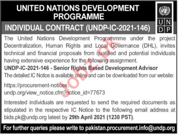 UNDP Jobs 2021 for Senior Rights Based Development Advisor