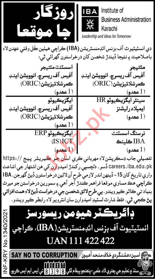 Institute of Business Administration IBA Jobs 2021 Executive