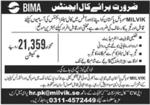 Milvik Mobile Pakistan Jobs 2021 in Lahore