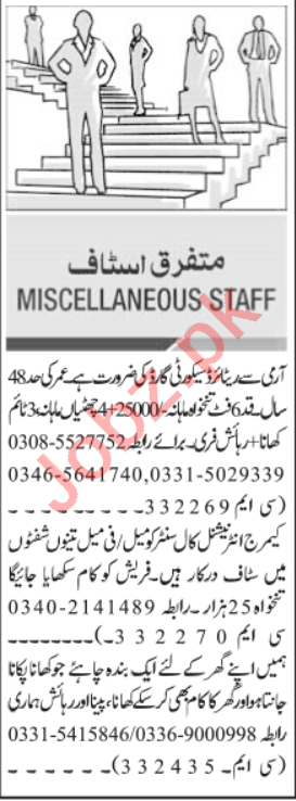 Web Developer & Security Guard Jobs 2021 in Islamabad