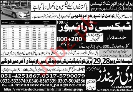 Taxi Driver & LTV Driver Jobs 2021 in UAE