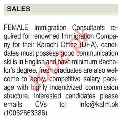 Kalm Services Provider Karachi Jobs Immigration Consultant