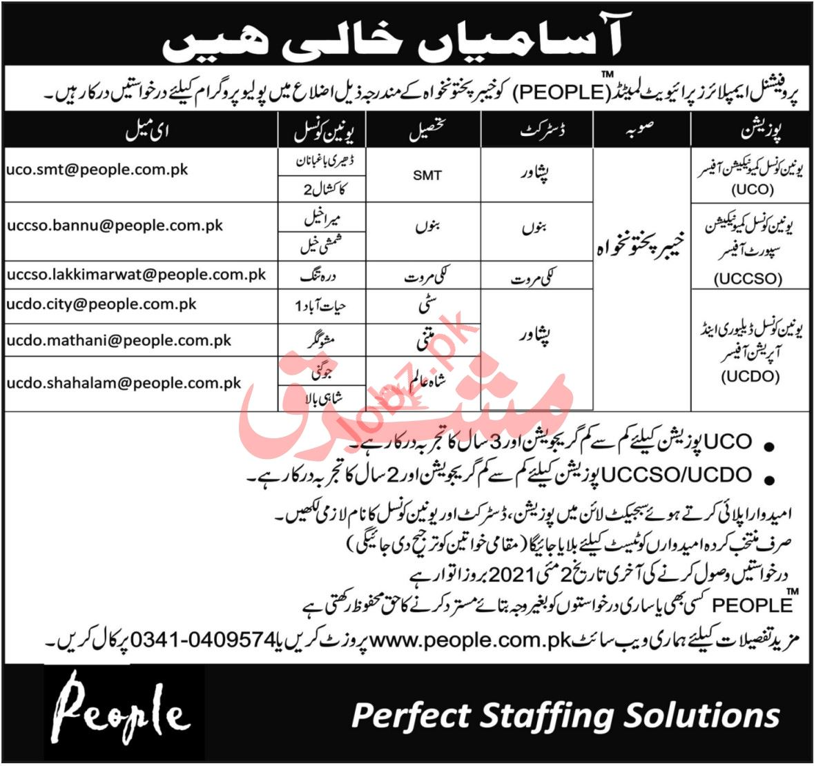 Professional Employers People KPK Jobs 2021 for UCO Officer