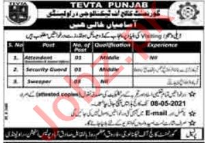 Govt College of Technology Farooq Azam Road Rawalpindi Jobs
