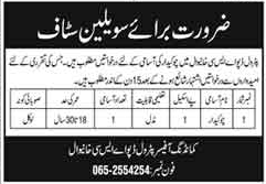 Pakistan Army Petrol Depot ASC Khanewal Job 2021