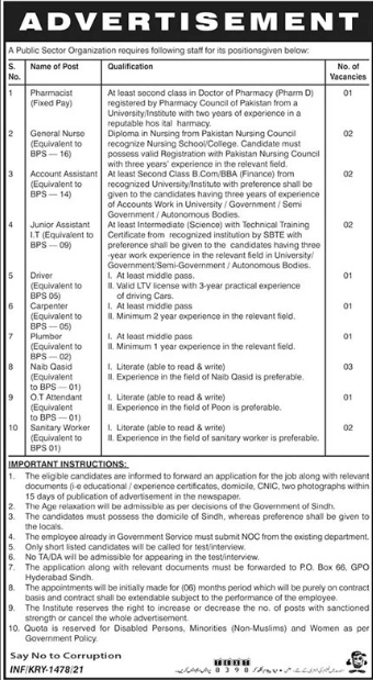 Public Sector Organization Jobs 2021 in Hyderabad