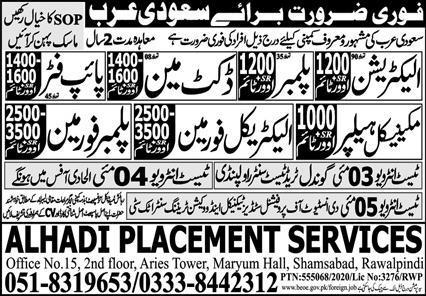 Technical Staff Jobs 2021 in Saudi Arabia