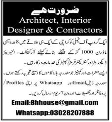 Architect and Interior Designer Jobs 2021 in Karachi