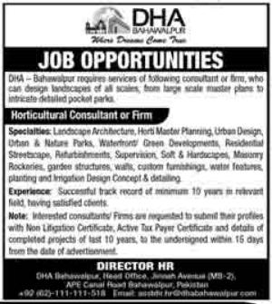 DHA Bahawalpur Jobs 2021