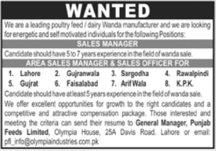 Punjab Feeds Limited Jobs 2021 For Sales Staff