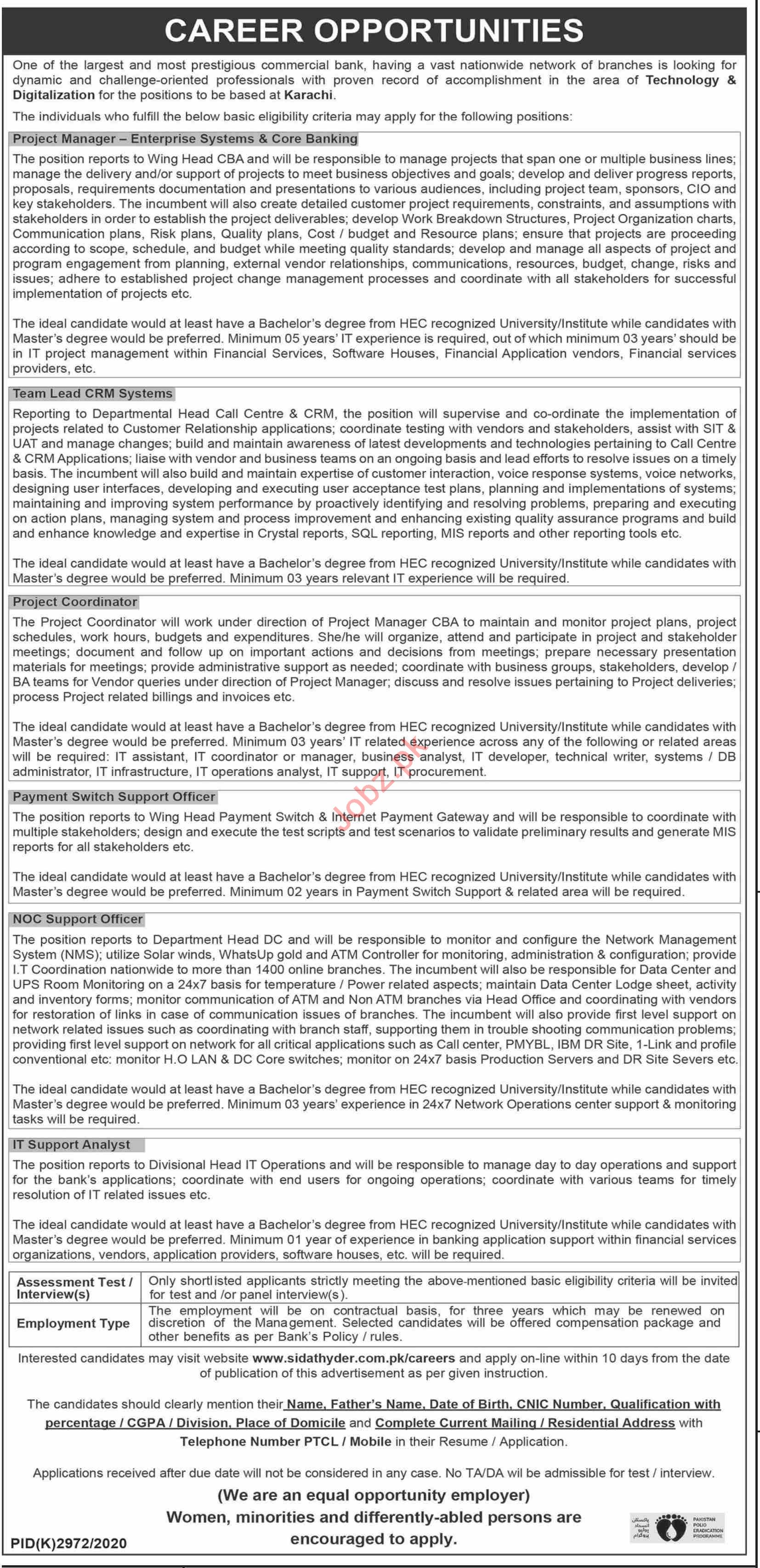 Project Manager & Team Lead CRM Systems Jobs 2021