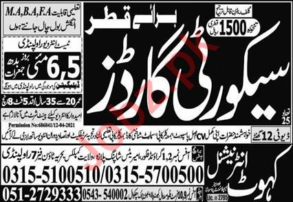 Security Officer & Security Guard Jobs 2021 in Qatar