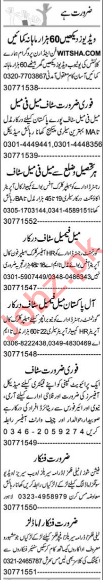 Account Manager & HR Officer Jobs 2021 in Lahore