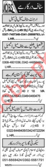 HR Officer & Computer Operator Jobs 2021 in Lahore