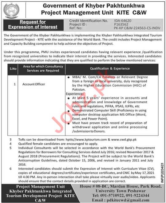Communication & Works Department C&W KITE Peshawar Jobs 2021