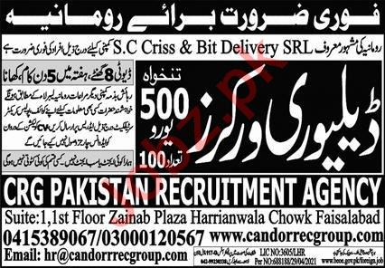 Delivery Worker & Delivery Boy Jobs 2021 in Romania