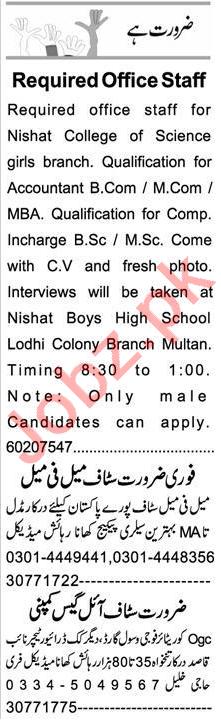 Accountant & Web Developer Jobs 2021 in Multan