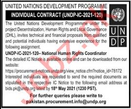National Human Rights Coordinator Jobs 2021 in UNDP
