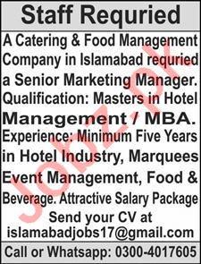 Senior Marketing Manager & Marketing Manager Jobs 2021
