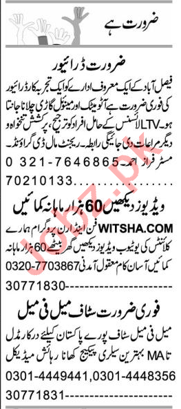 Branch Manager & Account Manager Jobs 2021 in Faisalabad