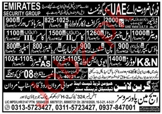 Fork Lift Operator & Aircraft Cargo Loader Jobs 2021 in UAE