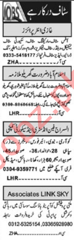 Marketing Manager & Garments Manager Jobs 2021 in Islamabad