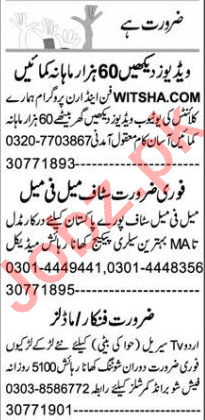 Branch Manager & Computer Operator Jobs 2021 in Lahore