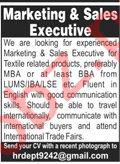 Marketing Executive & Sales Executive Jobs 2021 in Lahore