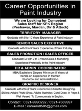 Management Staff Jobs 2021 in KPK