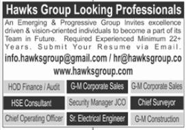 Hawks Group Jobs 2021 in Islamabad