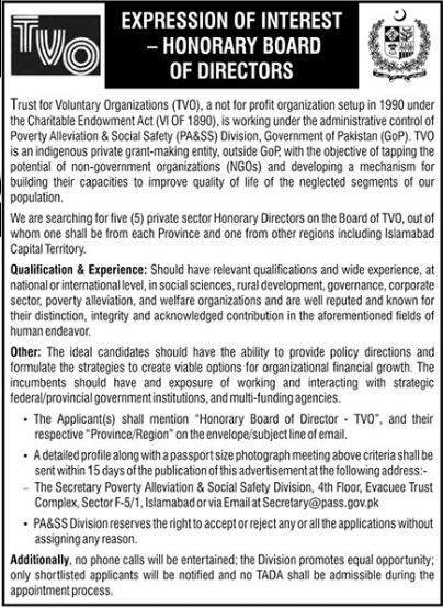 Trust For Voluntary Organizations NGO Jobs 2021