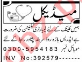 Aaj Sunday Classified Ads 9 May 2021 for Medical Staff