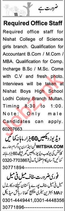 Express Sunday Multan Classified Ads 9 May 2021