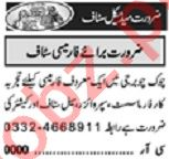 Khabrain Sunday Classified Ads 9 May 2021 for Medical Staff