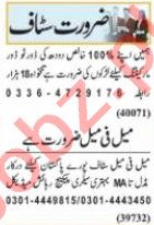 Nawaiwaqt Sunday Classified Ads 9 May 2021 for Office Staff