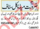 Nawaiwaqt Sunday Classified Ads 9 May 2021 for Medical Staff