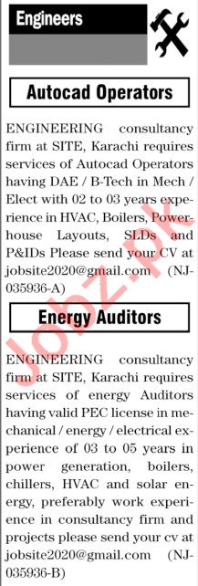 The News Sunday Classified Ads 9 May 2021 for Engineers