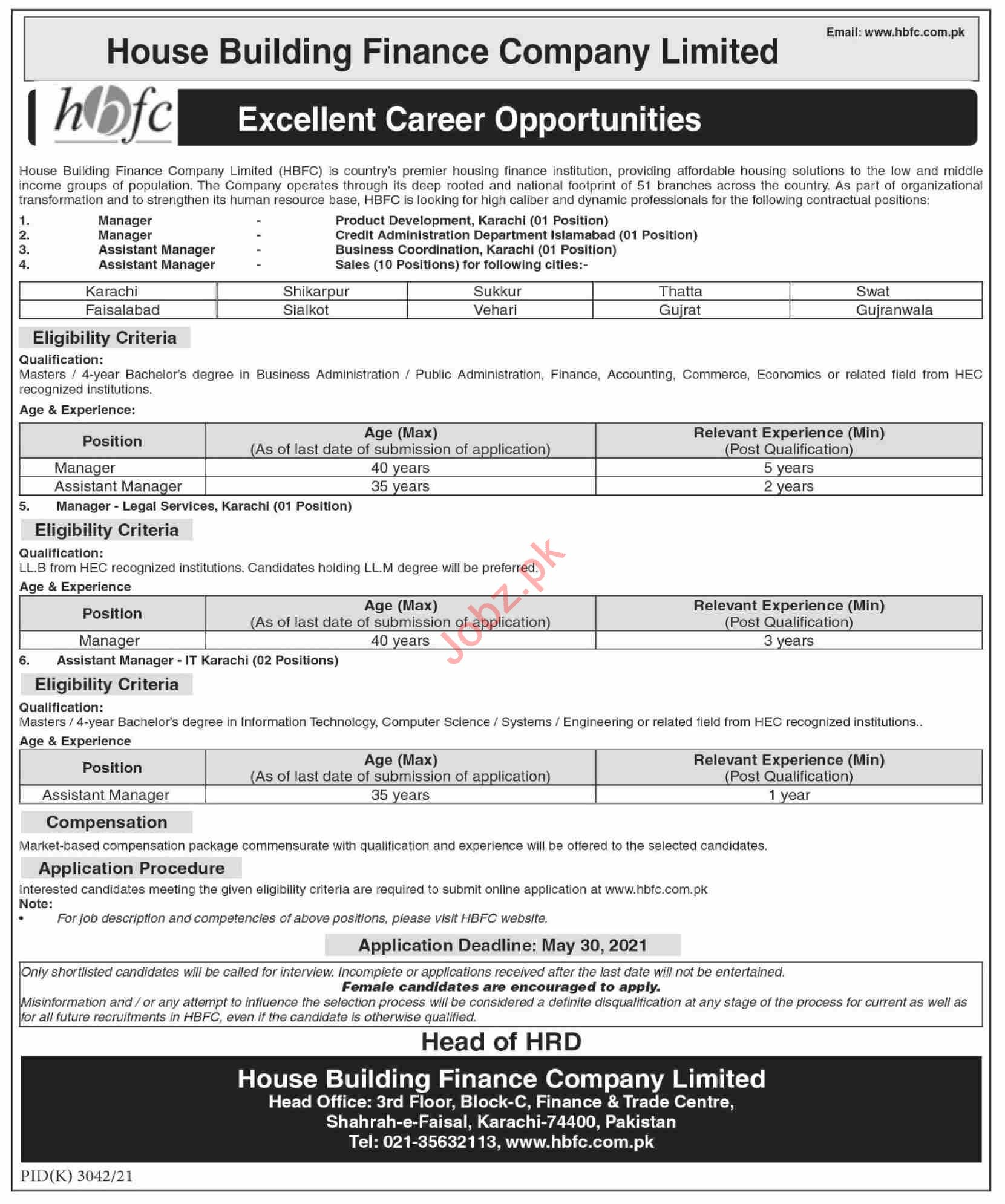 HBFCL Jobs 2021 for Managers & Assistant Managers