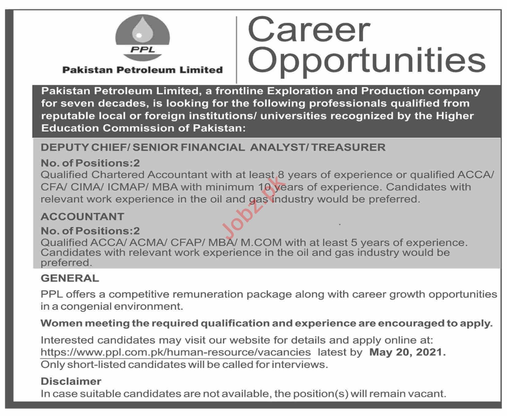 Pakistan Petroleum Limited PPL Islamabad Jobs 2021