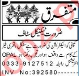 Electrician & Lathe Machine Operator Jobs 2021 in Peshawar