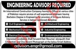 Civil Engineer & Mechanical Engineer Jobs 2021 in Lahore