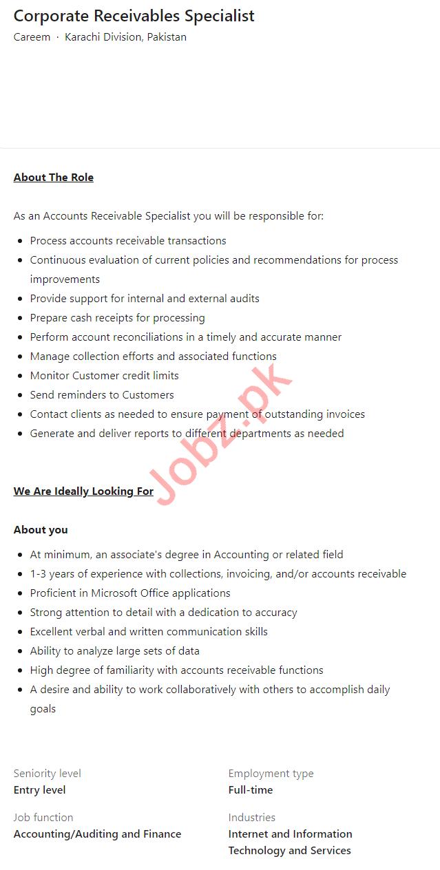 Careem Taxi Company Karachi Division Jobs 2021