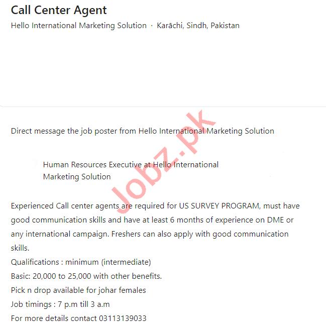 Hello International Marketing Solution HIMS Jobs 2021