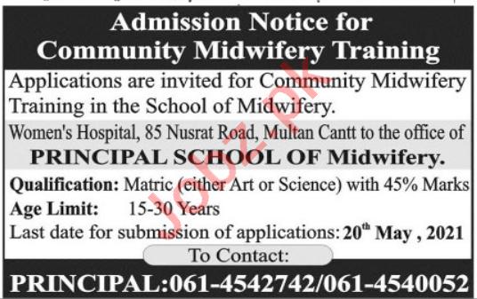 School of Midwifery Women Hospital Multan Jobs 2021