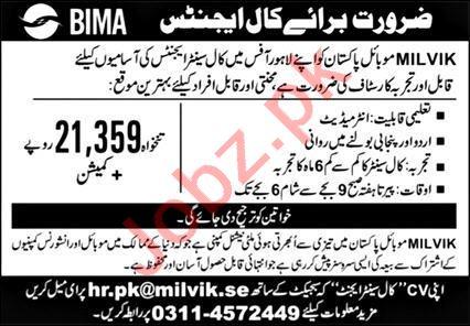 Female Call Center Agent Jobs 2021 in Milvik Mobile Pakistan
