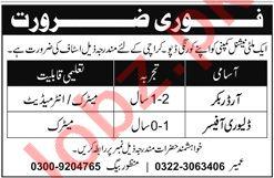 Order Booker & Delivery Officer Jobs 2021 in Karachi